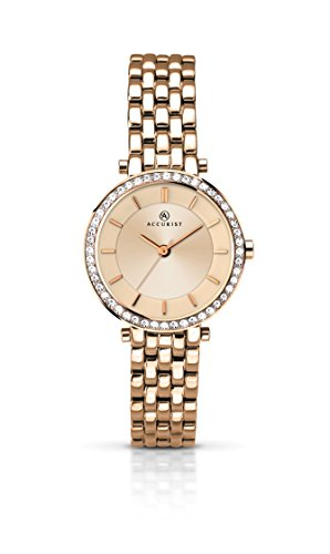 Accurist Ladies Analogue Watch With Rose Gold Dial And Rose Gold Bracelet 8124