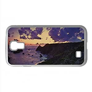 Coast Cliffs At Sunset Watercolor style Cover Samsung Galaxy S4 I9500 Case (Beach Watercolor style Cover Samsung Galaxy S4 I9500 Case)