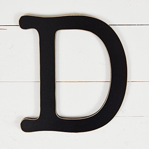 11.5'' Typewriter Wall Decor Letter ''D''- black by UNFINISHEDWOODCO
