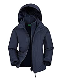 Mountain Warehouse Fell Kids 3 in 1 Jacket - Spring Triclimate Jacket Navy 9-10 years