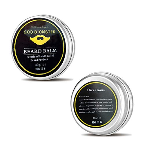 Angmile Beard Soften Wax Moisturizing Moustache Wax Men Beard Care Wax Anti-Static Anti-Knot Moustache Care Product