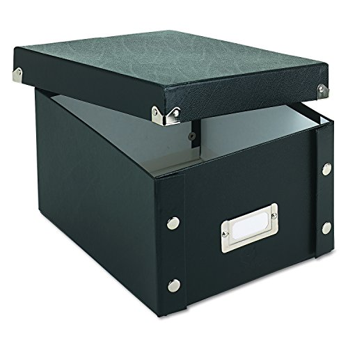 Snap-N-Store SNS01647 Collapsible Index Card File Box, Holds 1,100 5 x 8 Cards, Black ()