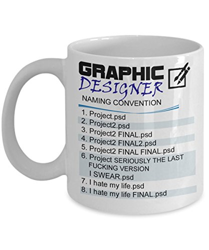 The Fifth Element Costume Design (Graphic Designer - Naming Convention Mug , best Graphic Designer gift, Birthday gift)