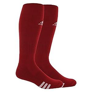 adidas Unisex Rivalry Soccer 2-Pack Otc sock, University Red/White, Large