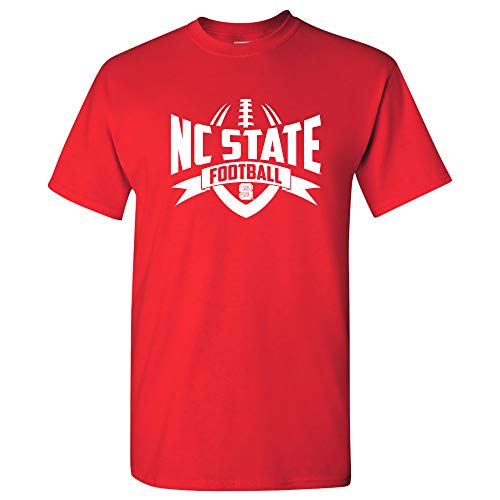 AS09 - NC State Wolfpack Football Rush T-Shirt - 2X-Large - Red ()