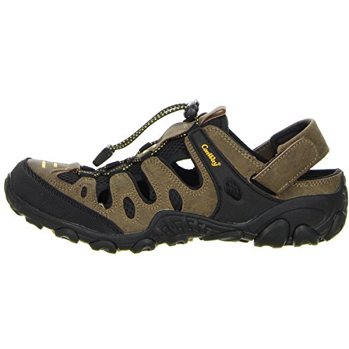 ConWay YK1027M Brown/Black/Yellow - Sandalias deportivas de Material Sintético para mujer Marrón marrón Marrón - marrón