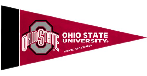 Mini Pennants Ncaa (NCAA Ohio State Buckeyes NCAA Mini Pennant, 8-pc Single Team Set, Red, 4-inches by 9-inches)
