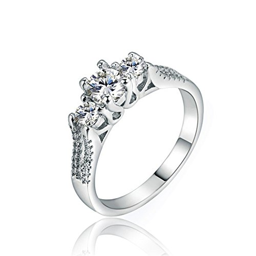 Tenfit Jewelry Simulated Diamond Rings Wedding Love Luxury rings for women Christmas gift 011