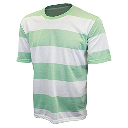 Men's Green Striped Shirt: Amazon.com