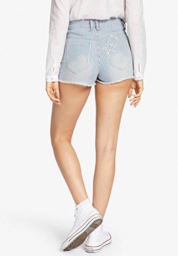 Mujer Rayas Gestreift Blau Khujo Ajustada weiß Pantalón Para I8Ccfw
