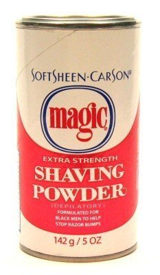 Magic Shave Softsheen Carson Extra Strength Shaving Powder, Red - 5 Oz (Pack of 3)