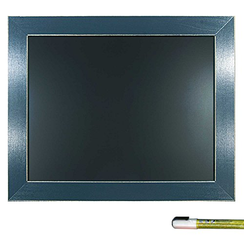 Cohas Framed Chalkboard includes Blackboard in Country Craft Frame and Liquid Chalk Marker, 11 x 14 Inches, Williamsburg Blue - C4 Menu