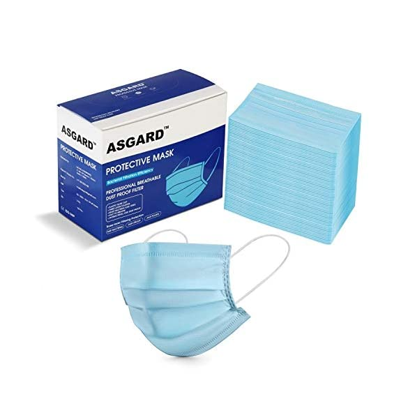 Asgard-Melt-Blown-Fabric-Disposable-Face-Mask-with-Nose-Clip-Blue-Without-Valve-Pack-of-50-for-Unisex