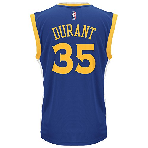 NBA Men's Golden State Warriors Kevin Durant Replica Player Home Jersey, 2X-Large, Blue