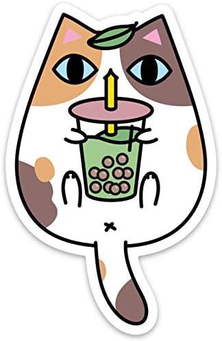 Amazon.com: Calico - Vinilo adhesivo para té, diseño de gato ...