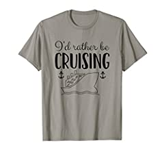 """Wear this cute, stylish cruise ship t shirt if you and your friends and family love cruise vacations! Click on our brand name """"Cruise Shirts by Chris"""" to see more of our shirts."""