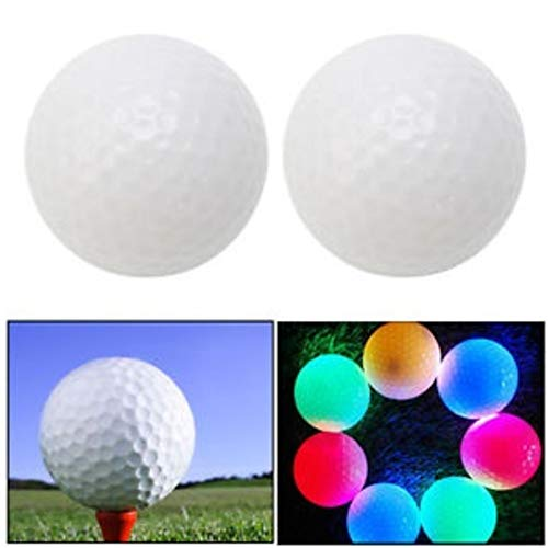 TOBABYFAT LED Light up Golf Ball Ultra Bright Color Flashing Electronic Golf Ball Rubber Material Novelty Golf for Night Training -
