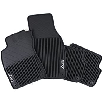 genuine audi accessories black front and rear allweather rubber floor mat for audi