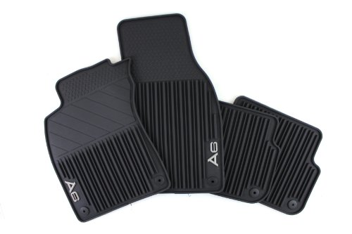 Genuine Audi Accessories 4F1061450041 Black Front and Rear All-Weather Rubber Floor Mat for Audi A6, (Set of 4)