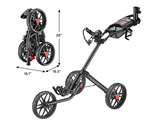 CaddyTek Caddylite 15.3 V2 - Deluxe Quad-Fold Golf Push Cart Version 2,...
