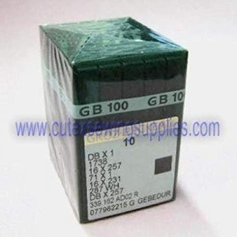 metric 65 100 GROZ-BECKERT DBX1 16X257 1738 GEBEDUR TITANIUM SEWING MACHINE NEEDLES Size 9