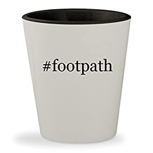 #footpath - Hashtag White Outer & Black Inner Ceramic 1.5oz Shot Glass