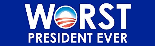 BuildASign Worst President Ever Anti Obama Bumper Stickers