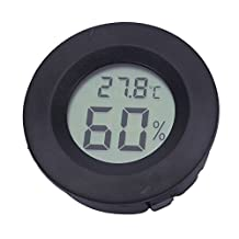 Refaxi Digital Cigar Humidor Hygrometer Thermometer Round Black Face NEW