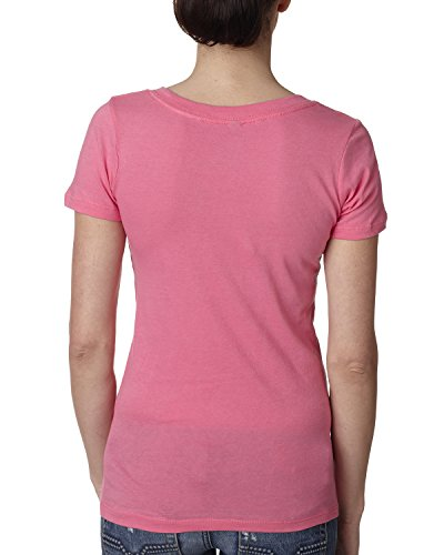 Next Level The Deep V - Hot Pink - S