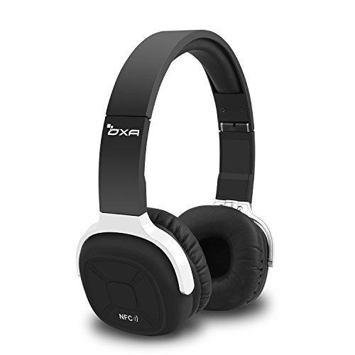 Drahtlose Bluetooth Kopfhörer, OXA Faltbare Sport Headset mit Mikrofon, NFC und Pedometer für TV Smartphone Geräte, Schwarz