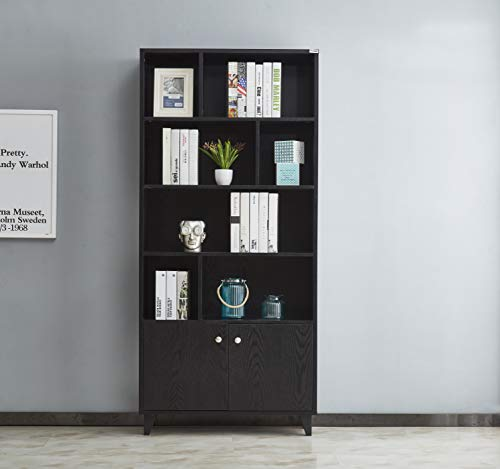 (Mixcept Modern Bookcase with 2 Doors 68