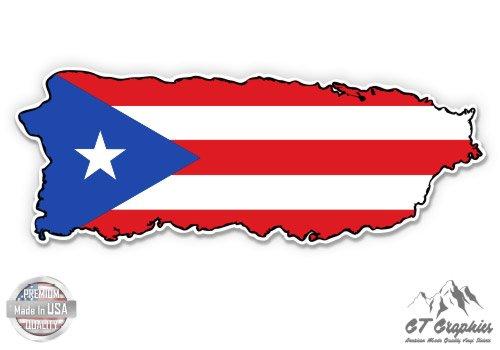 Puerto Rico Flag Map - 3