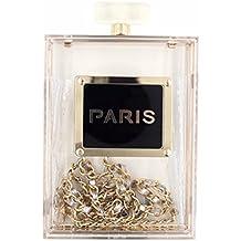 Women Acrylic Transparent Paris Perfume Shape Evening Bags Purses Clutch Vintage Banquet Handbag