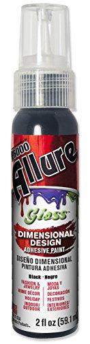 Gloss Dimensional - E6000 57070219 719C Allure Gloss Dimensional Adhesive Paint, Black, 2 fl. oz.