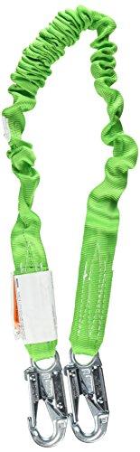 Hooks 2 Snap Locking - Miller by Honeywell 216M/5FTGN 5-Feet Manyard II Shock-Absorbing Stretchable Web Lanyard with 2 Locking Snap Hooks, Green