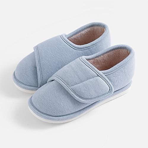 Frauen Diabetische Slippers Extra Wide Einstellbare Ödeme Plantar Fasciitis Fersensporn Bunions Orthopädische Feet Arthritis Schuhe für senioren Breiter geschwollene Füße Arthritis,Blau,40
