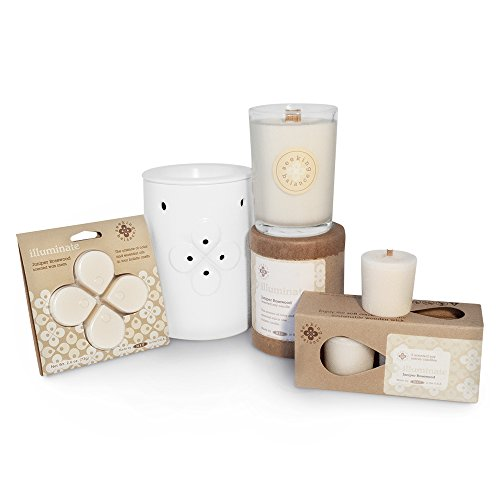 Root Scented Seeking Balance Illuminate Candle, Juniper Rosewood