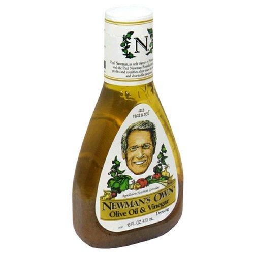 Newman's Own Salad Dressing, Olive Oil & Vinegar, 16-Ounce Bottles (Pack of 6)