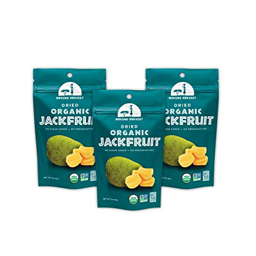 Mavuno Harvest Direct Trade Organic Dried Fruit, Jackfruit, 3 Count