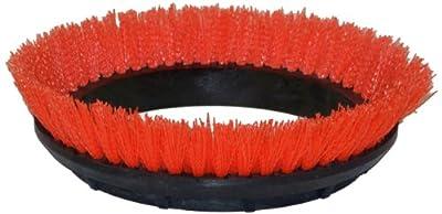 "Oreck Commercial. 237047 Crimped Polypropylene Scrub Orbiter Brush, 12"" Diameter, 0.028"" Bristle Diameter, Orange, for ORB550MC Orbiter Floor Machine"