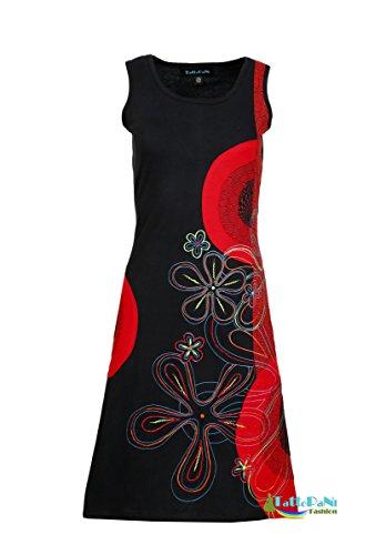 de la page robe et sans Black fleur de broderie avec conception colore Mesdames de de conception la manches Oq8Id8w