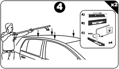 VDP Dachbox JUPRE320 schwarz gl/änzend abschlie/ßbar 320 Ltr Dachtr/äger Menabo Tema kompatibel mit Mercedes E-Klasse W211 2002-2009 Stahl
