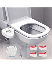 Bidet Toilet Seat - Toilet Sprayer Bidet - Toilet Seat Water Spray Jet - Adjustable Water Pressure Bidet Sprayer - Bidet Sprayer for Toilet - Smart Toilet - Include Toilet Seat Bumper by DECORUS