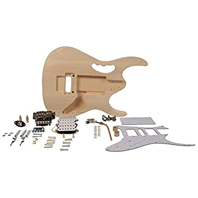 Seismic Audio - SADIYG-15 - Premium JEM Style DIY Electric Guitar Kit - Unfinished Luthier Project Guitar Kit