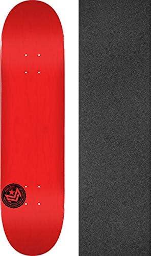 """Red Blank SKATEBOARD DECK  7.75/"""" W// Grip Tape"""