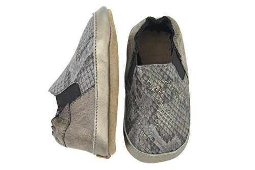 Melton Krabbelschuhe Unisex - Zapatillas de casa Bebé-Niños Gris - Grau (Camel470)