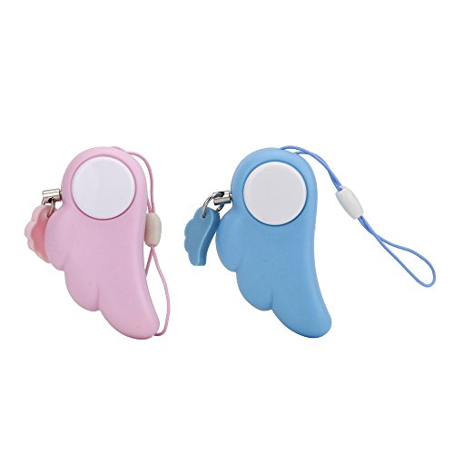 SHENFAN Angel Wings Style Electronic Personal Protection Alarm for Anti-Theft ,Anti-Rape, Self-protection Security,Pink (Self Protection Alarm compare prices)