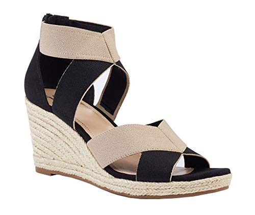 Impo Women's Timber Wedge Sandals, Black/Praline, 7 ()