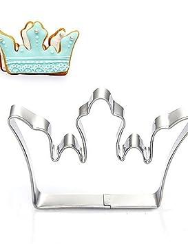 hjlhyl/corona de la Reina del Rey forma de galletas, frutas corte moldes acero inoxidable: Amazon.es: Hogar