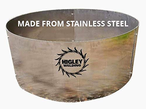 18'' Deep Fire Pit Liner-Campfire Ring 45'' Diameter Stainless Steel by Higley Fire Pit
